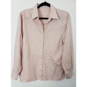 Foxcroft Button Front Striped Long Sleeve Shirt